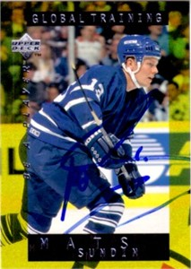 Mats Sundin autographed Toronto Maple Leafs Upper Deck card