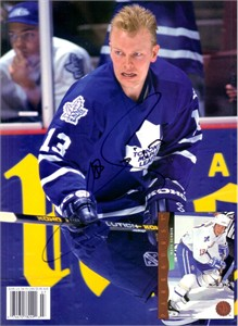 Mats Sundin autographed Toronto Maple Leafs Beckett Hockey back cover photo