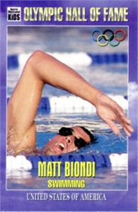 Matt Biondi Olympic Hall of Fame Sports Illustrated for Kids card