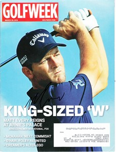 Matt Every autographed 2014 Golfweek magazine