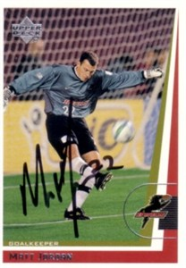 Matt Jordan autographed 1999 MLS Dallas Burn card