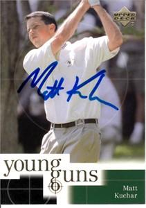 Matt Kuchar autographed 2001 Upper Deck golf Rookie Card