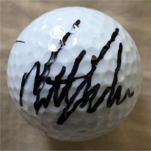 Matt Kuchar autographed golf ball
