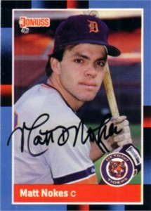 Matt Nokes autographed Detroit Tigers 1988 Donruss Rookie Card