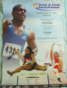Maurice Greene autographed 2004 Home Depot Invitational poster