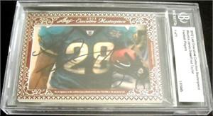 Maurice Jones-Drew & Fred Taylor certified autograph 2012 Leaf Executive Masterpiece Dual Cut Signature card #1/1