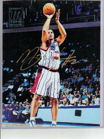Maurice Taylor autographed Houston Rockets Topps 8x10 canvas art print certified autograph