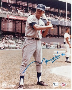 Maury Wills autographed Los Angeles Dodgers 8x10 photo