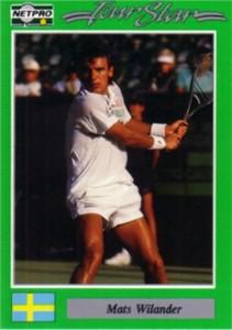 Mats Wilander 1991 Netpro card
