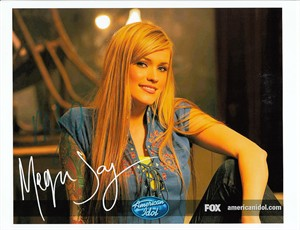 Megan Joy autographed 8x10 2009 American Idol photo