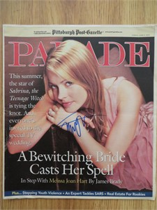 Melissa Joan Hart autographed 2003 Parade magazine