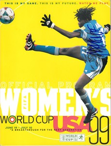 Mercy Akide autographed 1999 Women's World Cup program