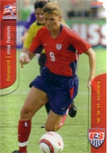 Mia Hamm 2004 U.S. Women's National Team soccer card #5