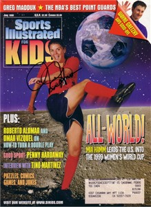 Mia Hamm autographed US Soccer 1999 Women's World Cup Sports Illustrated for Kids magazine