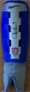 Mia Hamm autographed Nike U.S. Soccer shinguard (Steiner)