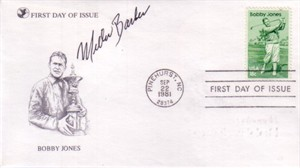 Miller Barber autographed Bobby Jones First Day Cover golf cachet envelope
