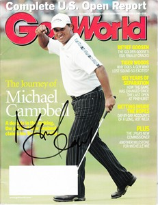 Michael Campbell autographed 2005 U.S. Open Golf World