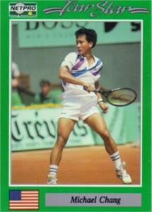 Michael Chang 1991 Netpro Rookie Card