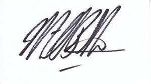 Michael Bolton autographed business card (cut signature) JSA