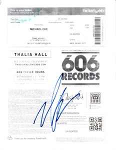 Michael Che autographed paper ticket