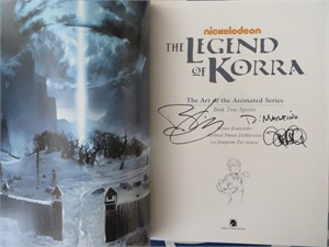 Michael DiMartino & Bryan Konietzko autographed Legend of Korra Art of the Animated Series Book Two