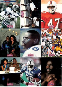 Michael Irvin 1992 Pro Line Profiles National Convention promo embossed 9 card set
