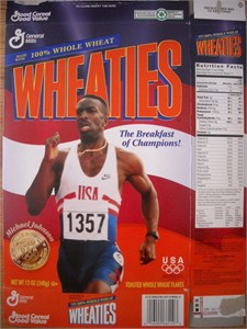 Michael Johnson 1996 Olympic commemorative Wheaties box