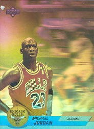 Michael Jordan 1992-93 Upper Deck hologram insert card #AW1