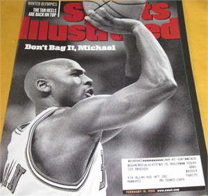 Michael Jordan Chicago Bulls February 1998 Sports Illustrated issue