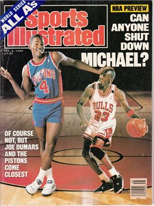 Michael Jordan & Joe Dumars 1989 Sports Illustrated (no subscription label)