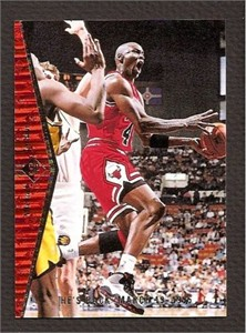 Michael Jordan Bulls 1994-95 SP He's Back insert card MJ1