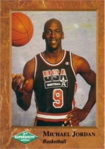 Michael Jordan USA Basketball 1992 Supershow promo card