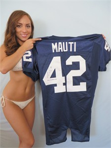 Michael Mauti autographed authentic Nike Penn State jersey inscribed 2012 All-American