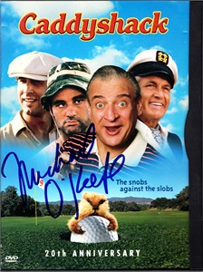 Michael O'Keefe autographed Caddyshack DVD box