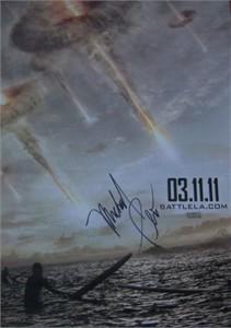 Michael Pena autographed Battle Los Angeles mini movie poster