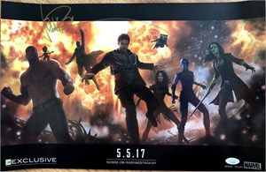 Michael Rooker autographed Guardians of the Galaxy 2 2016 San Diego Comic-Con exclusive Marvel movie poster