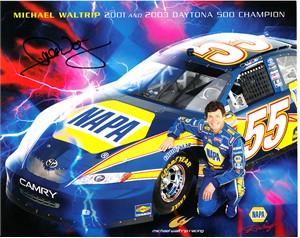 Michael Waltrip autographed NAPA Racing 8x10 NASCAR photo card