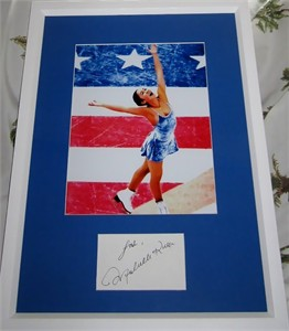 Michelle Kwan autograph matted & framed with 8x10 skating photo