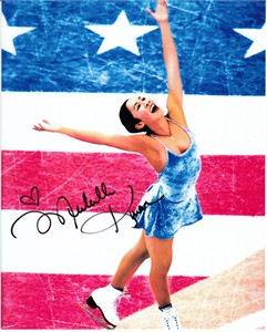 Michelle Kwan autographed 8x10 ice skating photo