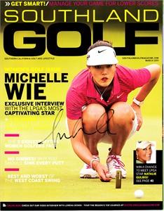 Michelle Wie autographed 2011 Southland Golf magazine