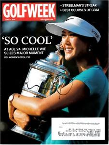 Michelle Wie autographed 2014 U.S. Women's Open Golfweek magazine