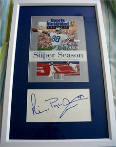 Michael Irvin autograph framed with Dallas Cowboys Super Bowl 27 Sports Illustrated special issue cover