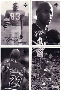 Michael Jordan 1998 Upper Deck Retrospect 4x6 postcard set (4)