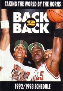 Michael Jordan & Scottie Pippen 1992-93 Chicago Bulls pocket schedule