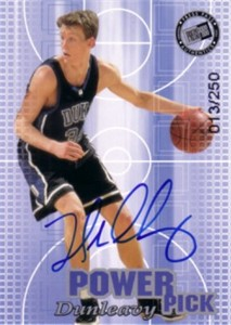 Mike Dunleavy certified autograph Duke 2002 Press Pass card #13/250
