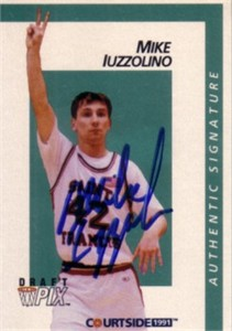 Mike Iuzzolino certified autograph St. Francis 1991 Courtside card