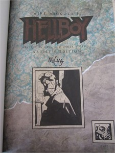 Mike Mignola autographed Hellboy Artist's Edition hardcover coffee table book