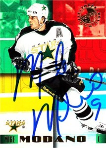Mike Modano autographed Dallas Stars 1995-96 Stadium Club Members Only card
