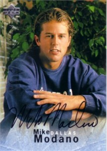 Mike Modano certified autograph 1996 Be A Player card