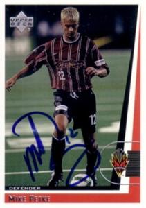 Mike Petke autographed 1999 MLS MetroStars card